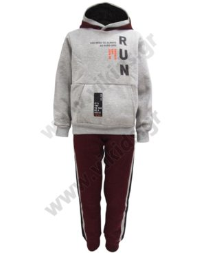 Σετ φόρμες φούτερ με κουκούλα RUN 202415 Joyce