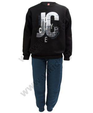Σετ φόρμες φούτερ για αγόρια Joyce 202431 μαύρο