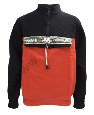 Μπλούζα φούτερ με φερμουάρ Joyce 202457 μαύρη