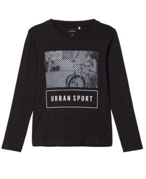Μακρυμάνικη μπλούζα URBAN SPORT nameit 9180-2 μαύρο