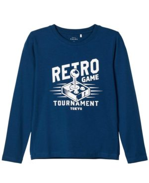 Μακρυμάνικη μπλούζα RETRO nameit 9180-3 μπλε