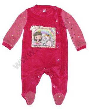 Βελουτέ φορμάκι PRINCESS & UNICORN για κορίτσια 202704