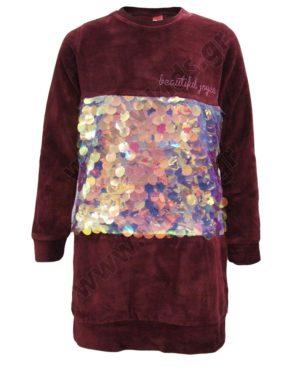 Βελουτέ φόρεμα με πούλιες 202382 Joyce