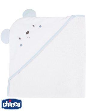 Βρεφικό μπουρνούζι - πετσέτα Chicco 40968 σιέλ