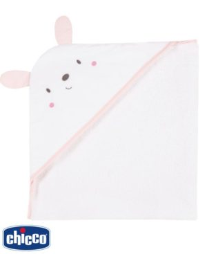 Βρεφικό μπουρνούζι - πετσέτα Chicco 40968 ροζ