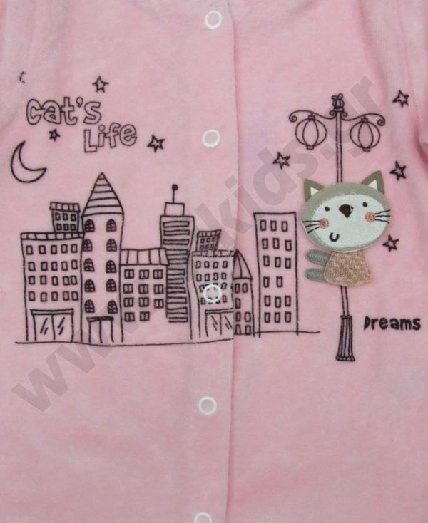 Bρεφικό βελουτέ φορμάκι CAT'S LIFE 202707