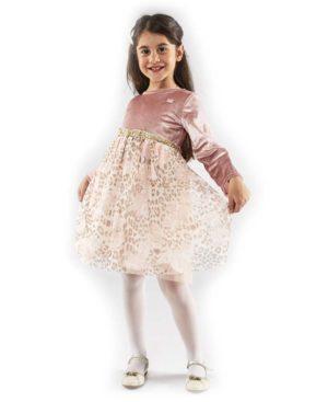 Φόρεμα με λεοπάρ τούλι EBITA 203285