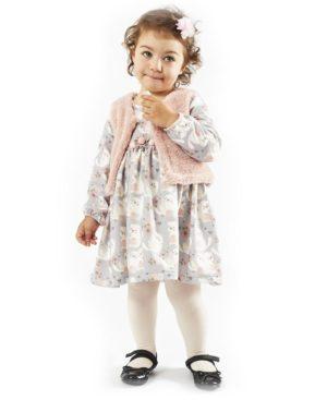 Βρεφικό σετ εμπριμέ φόρεμα με γιλέκο 203532 ΕΒΙΤΑ