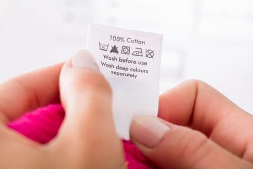 Εττικέτες ρούχων Οδηγίες πλυσίματος