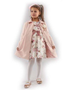 Σετ Παλτό και κοντομάνικο εμπριμέ Φόρεμα EBITA 203273