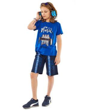 Σετ t-shirt MUSIC και βερμούδα Hashtag 214701