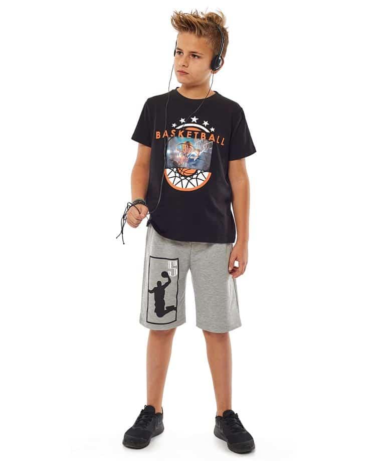 Σετ t-shirt BASKETBALL και βερμούδα Hashtag 214707