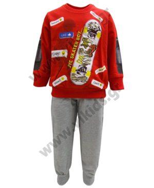 Εποχιακό σετ φούτερ SKATER BOY 211355 Joyce κόκκινο