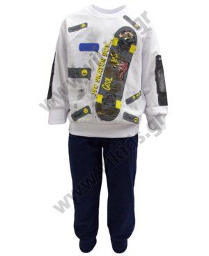 Εποχιακό σετ φούτερ SKATER BOY 211355 Joyce λευκό