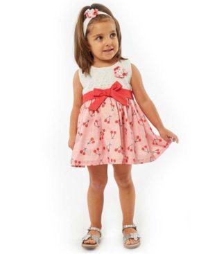 Βρεφικό κιπούρ φόρεμα ΚΕΡΑΣΙΑ με κορδέλα EBITA 214519