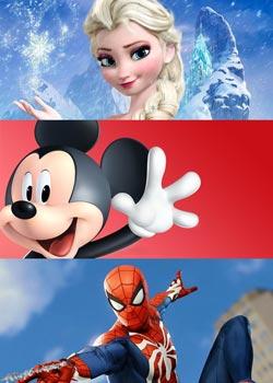 Παιδικά ρούχα και αξεσουάρ με Ήρωες Disney Marvel κ.α