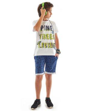 Σετ t-shirt PINE και εμπριμέ βερμούδα Hashtag 214751