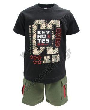 Σετ T-Shirt KEY NOTES και βερμούδα cargo 211367 Joyce