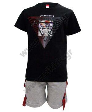 Σετ T-shirt ROCK BOYS και βερμούδα 211737 Joyce