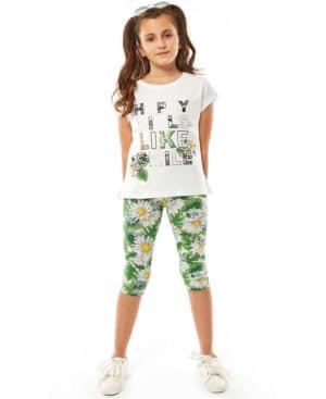 Σετ μπλούζα με παγιέτες HAPPY GIRLS και εμπριμέ κάπρι 214111 EBITA