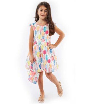 Εμπριμέ φόρεμα ΜΠΑΛΟΝΙΑ και τσαντάκι EBITA 214239