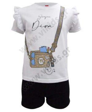 Σετ μπλούζα DIVA και σορτσάκι 211540 Joyce