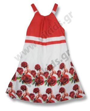 Φλοράλ φόρεμα με ράντες 6127 Scarabeo