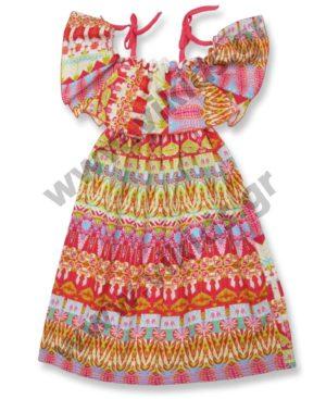 Εμπριμέ φόρεμα μπόχο 6180 Scarabeo