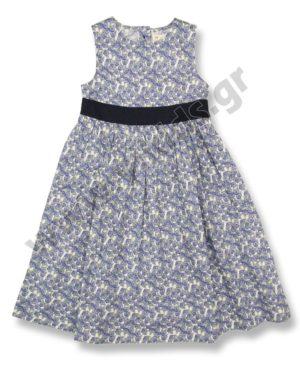 Εμπριμέ βαμβακερό φόρεμα 6362709 ZIPPY μπλε