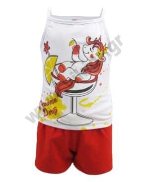 Σετ καλοκαιρινές πυτζάμες ΜΟΝΟΚΕΡΟΣ 212111 Dreams με ράντες
