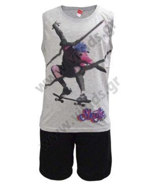 Σετ αμάνικη μπλούζα SKATE και βερμούδα 211740 Joyce