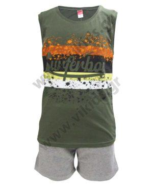 Σετ αμάνικη μπλούζα SURFERBOY και βερμούδα 211758 Joyce