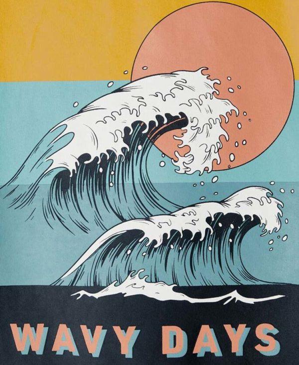 Σετ με T-Shirt WAVY DAYS και βερμούδα 7594-2 nameit organic