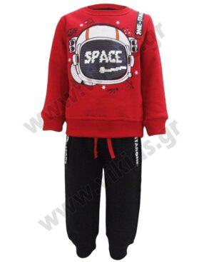 Σετ φόρμες φούτερ SPACE με παγιέτες Hashtag 213852