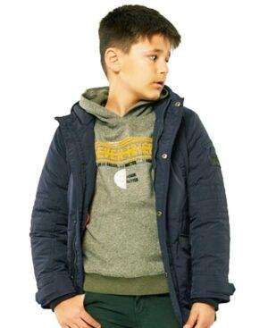 Μπλούζα με κουκούλα EVER TRIED 215734 Hashtag χακί