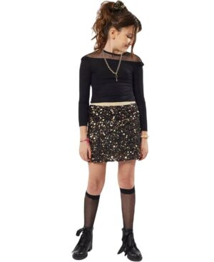 Σετ μπλούζα διαφάνεια και φούστα με παγιέτες ΕΒΙΤΑ 215069