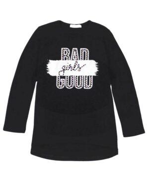 Μπλούζα BAD GOOD GIRLS 215112 ΕΒΙΤΑ μαύρο