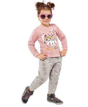 Βρεφικό σετ φούτερ LITTLE GIRL 215521 EBITA