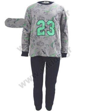 Σετ πυτζάμες για αγόρια ΔΕΙΝΟΣΑΥΡΟΙ 23 Hashtag Η-133