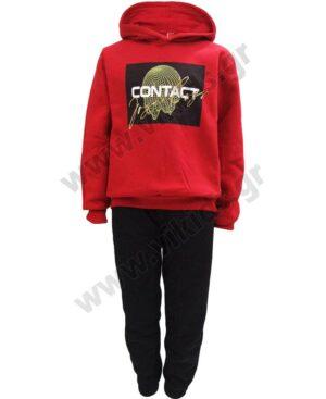 Σετ φόρμες φούτερ με κουκούλα CONTACT 216707