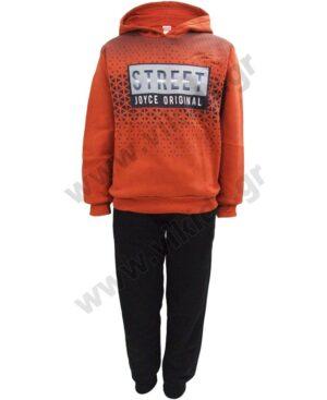 Σετ φόρμες φούτερ με κουκούλα STREET 216709