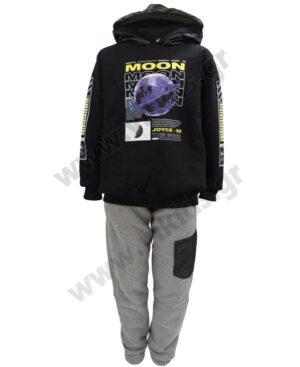 Σετ φόρμες φούτερ με κουκούλα MOON 216720