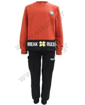 Σετ εποχιακές φόρμες φούτερ BRAKE THE RULES 216753 Joyce