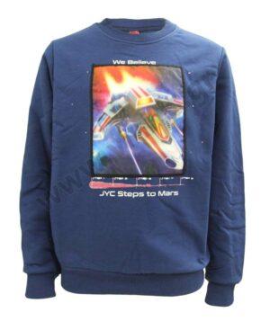 Μπλούζα φούτερ STEPS TO MARS με λεντάκια 216769 Joyce