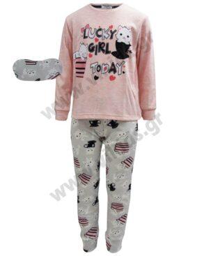 Σετ πυτζάμες για κορίτσια LUCKY GIRL Η-117 EBITA