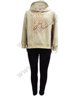 Σετ μπλούζα φούτερ με κουκούλα και κολάν 216507 Joyce