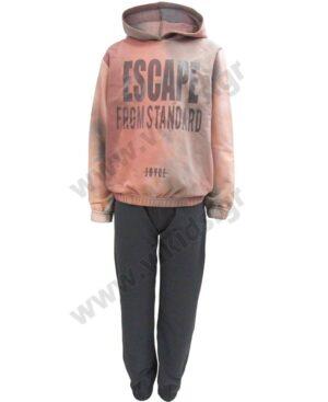 Σετ φόρμες φούτερ με κουκούλα ESCAPE Joyce 216505 για κορίτσια