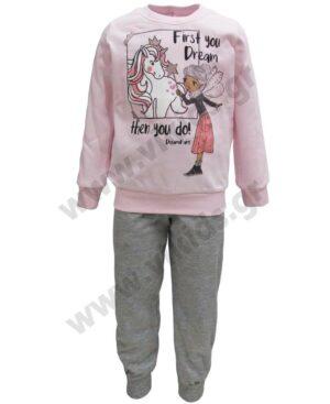 Σετ πυτζάμες για κορίτσια UNICORN και FAIRY 217106 ροζ
