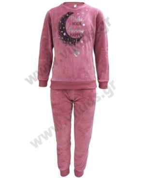 Σετ βελουτέ πυτζάμες για κορίτσια ΦΕΓΓΑΡΙ 217502 Dreams