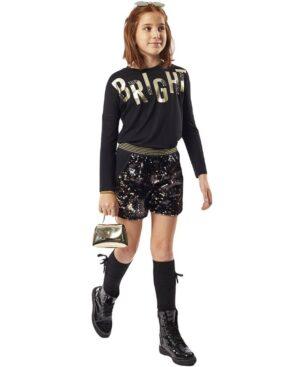 Σετ μπλούζα BRIGHT σορτς με παγιέτες και τσαντάκι ΕΒΙΤΑ 215082